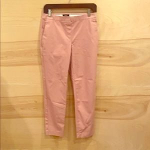 Theory pink pull on pants size 4